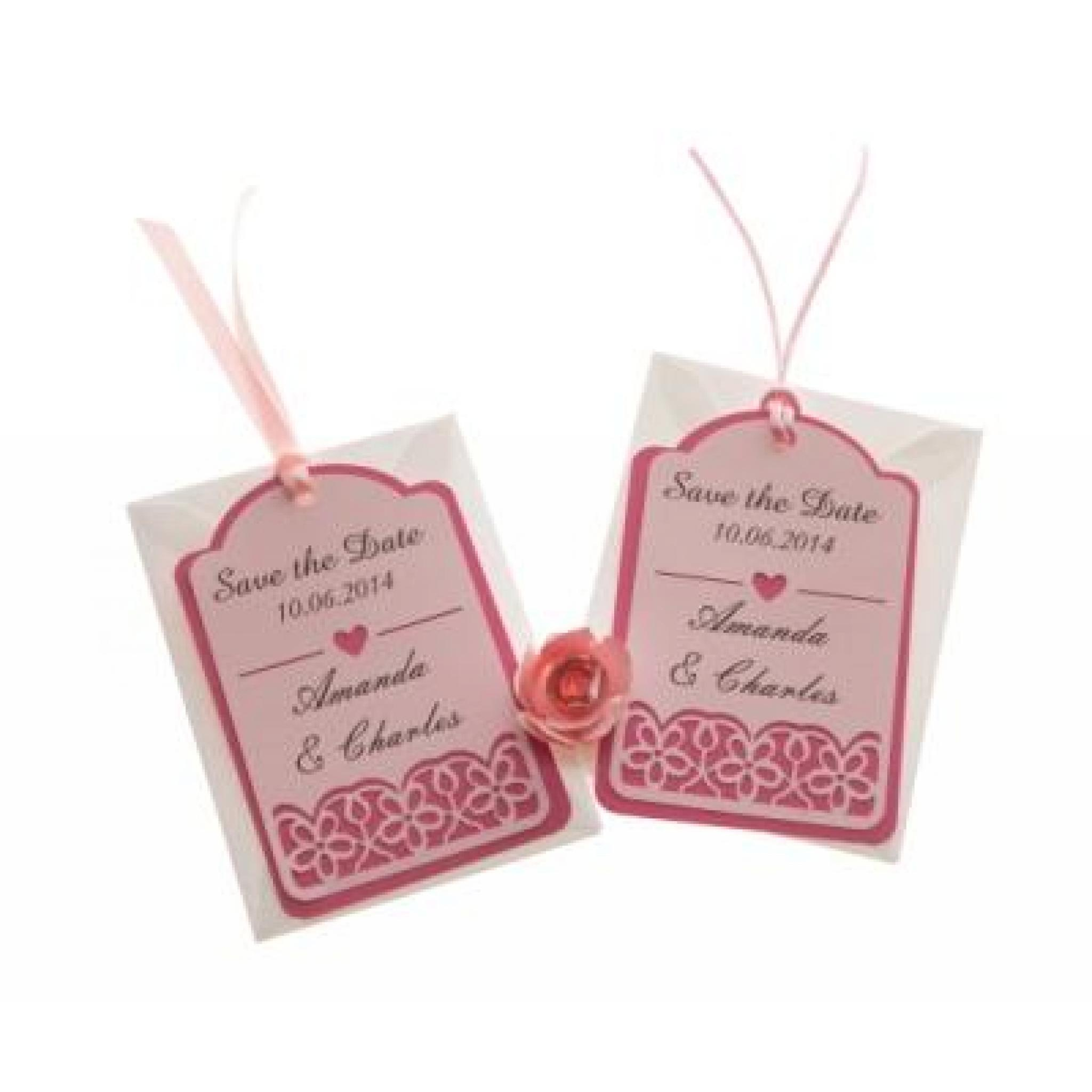 cb3300d9decb Brown kraft card save the date luggage tags FLORAL CUT x 25, available fro  razzle dazzle rose