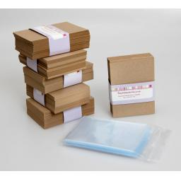 ATC Kraft Card blanks (pack of 50) with protective sleeves