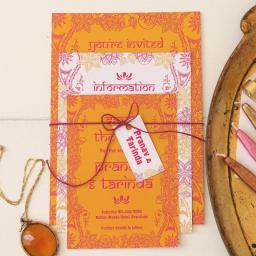 Kashmir Collection Invitation suite - full set x 25