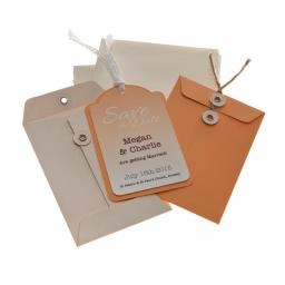 Peach Save the Date tags + Envelopes x 25 ( OMBRE RANGE)