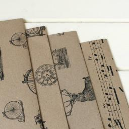 Vintage Clocks Wrapping Paper sheet