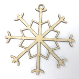 Wooden Snowflake Tags x 5