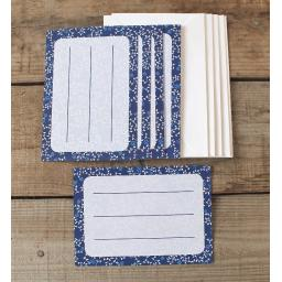 China Blue Envelope Labels & Envelopes x 10