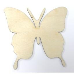 Wooden Butterfly Tag x 5