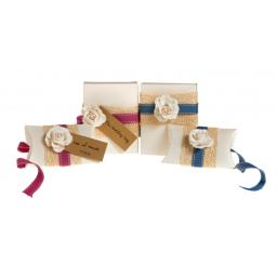 Vintage Cream pillow box favours ( pack of 50)