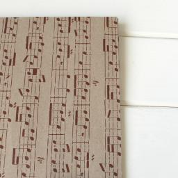 Vintage Red Music Wrapping Paper