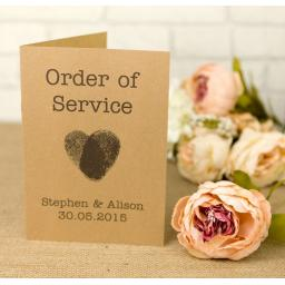 Fingerprint Collection - Order of service booklets x 50