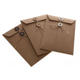 C4 BROWN KRAFT String Tie Envelopes x 25