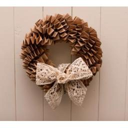 Brown Kraft Wedding Wreath Kit