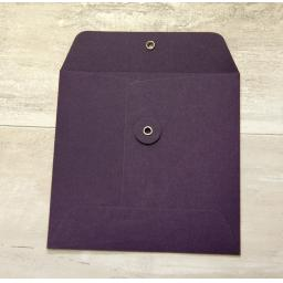 String Tie PLUM Envelopes 155mm square x 25