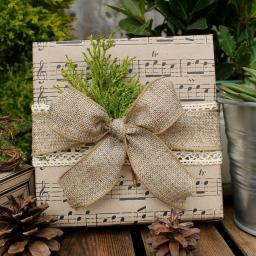 Vintage music wrapping paper sheet