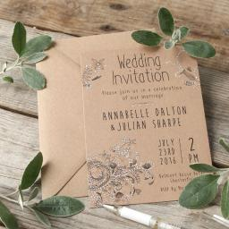 Adult colouring Wedding Invitation cards x 25