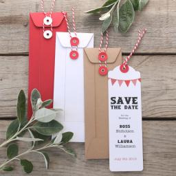Bookmark string tie envelopes x 25