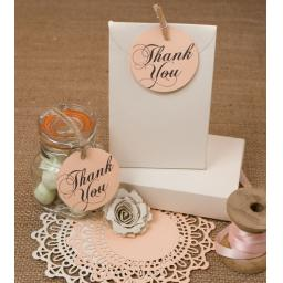 "2"" round tags THANK YOU x 50"