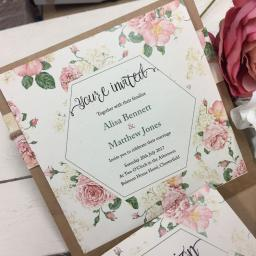 Old Country Rose Invitation
