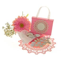 Pale Pink Handbag favour boxes x 50