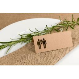Kraft Place cards - Belle Homme x50
