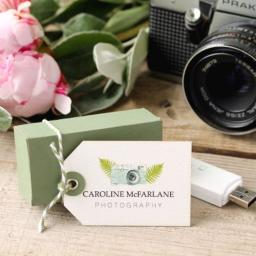 Small luggage tags x 50 - personalised (Angle top) textured card