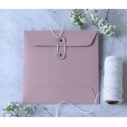 105MM BLUSH PINK String Button Envelopes x 25
