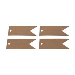 Brown kraft blank flag tags x 50