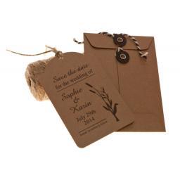 155mm Square BLACK String Tie Envelopes x 25