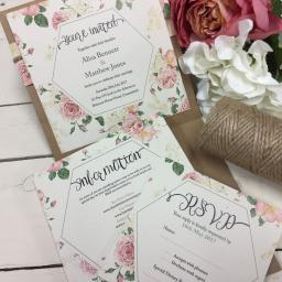 Old Country Rose RSVP card