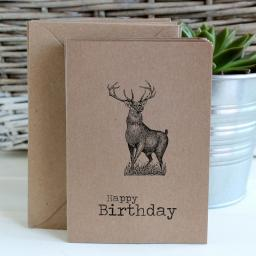 Vintage Stag Greeting cards