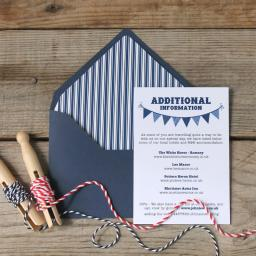 The Bunting Collection - Additional information cards x 25