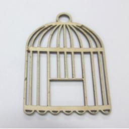 Wooden Bird Cage Tags x 5