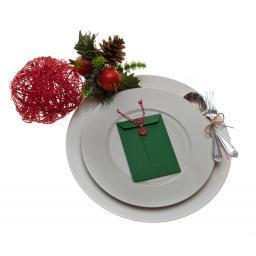 C7 FOREST GREEN String Tie Christmas money Envelopes x 10