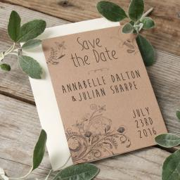Adult Colouring Save the Date Postcards x 25