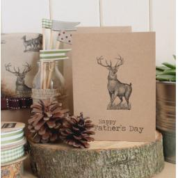 Father's Day Stag card & wrapping paper kit