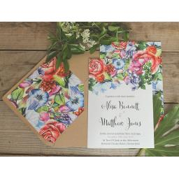 Botanical Blooms Invitations and Lined envelopes x 25