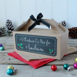 Christmas Gift Box - Personalised CHALK Christmas GIFT with name