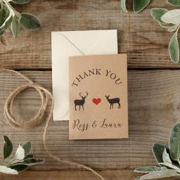 Modern stag - thank you cards - pack of 50 with matching envelopes