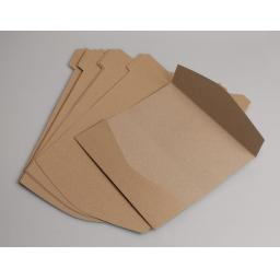 Recycled Kraft Card DL Pocketfold Wallets x 25 pack