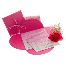 Cerise Pink petal wallets 150mm square ( pack of 25)