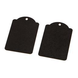 Medium BLACK luggage tags x 50