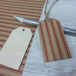 Wooden Luggage Tags x 5