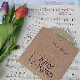 PRINTED CD Sleeves LOVE SONG DESIGN (pack of 50 )