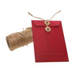 C7 RED String Tie Christmas money Envelopes x 10