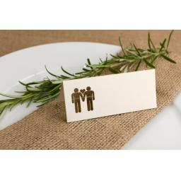Place cards - Belle Homme x50 vintage cream