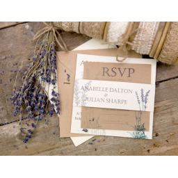 Lavender Invitations - full set x 25