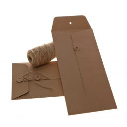 DL BROWN KRAFT String Tie Envelopes x 25