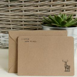 Vintage Stag Notelets & Envelopes x 10