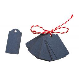 Mini NAVY luggage tags x 50