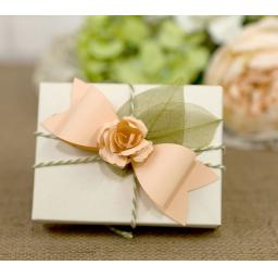 Peach Paper Bows with roses x 10