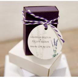 Lavender personalised round gift tags x 50