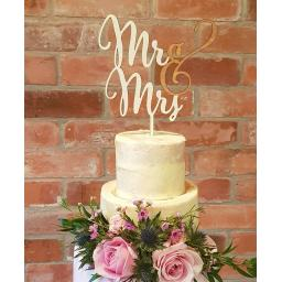 Wedding Wood Cake Toppers