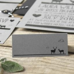 Whimsical stag place Cards x 50